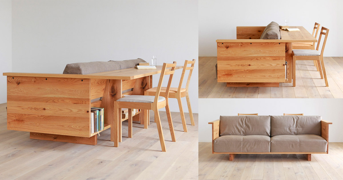 This Counter Sofa is Part Couch, Part Table, Part Bookshelf