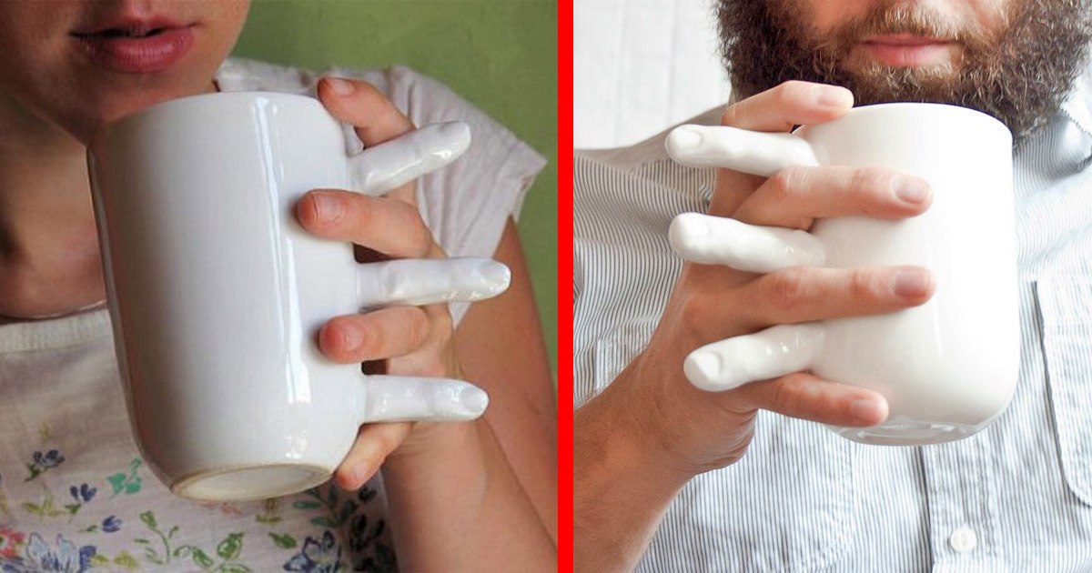 This Creepy Fingers Mug Lets You Hold Hands While Sipping Your Coffee