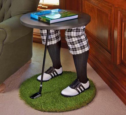 This Creepy Golfing Legs Side Table Belongs In Every Golf Addicts Home
