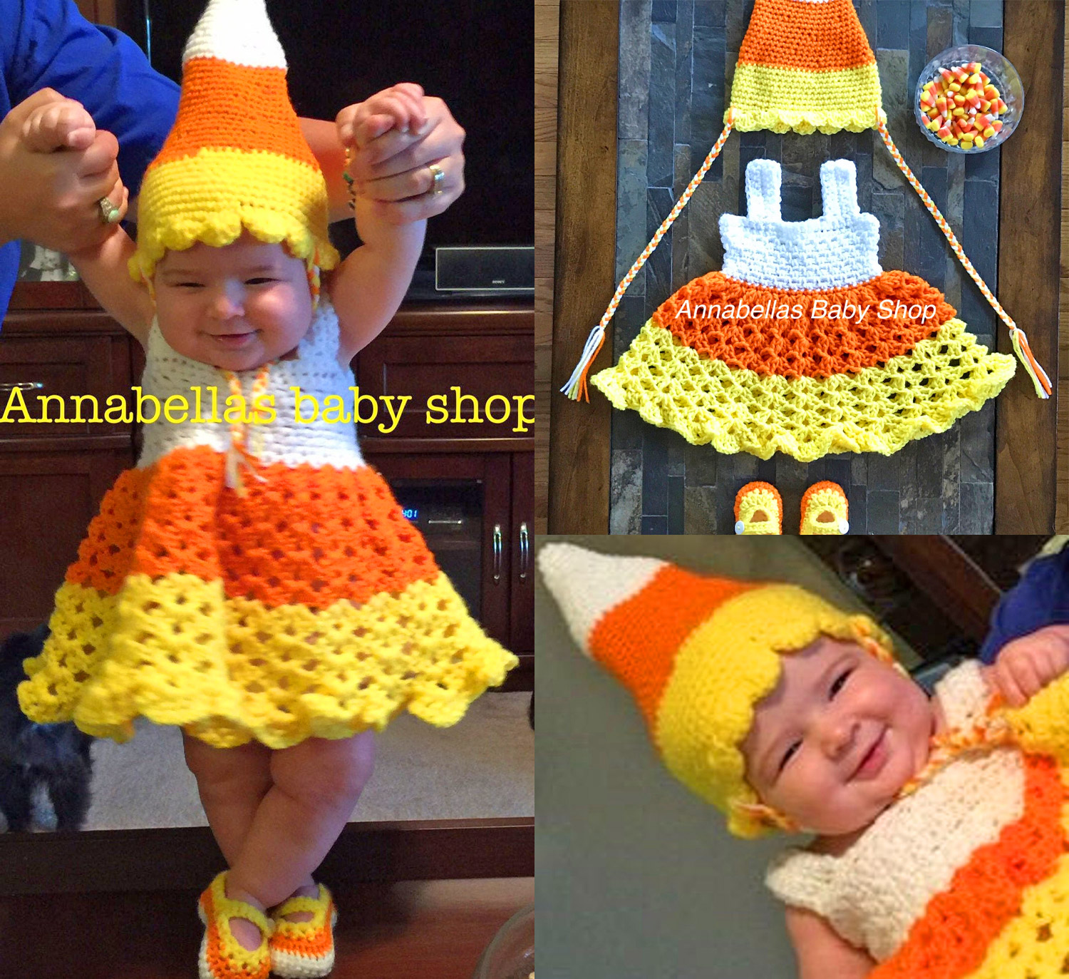 This Crochet Candy Corn Baby Costume Might Be The Cutest Halloween Idea