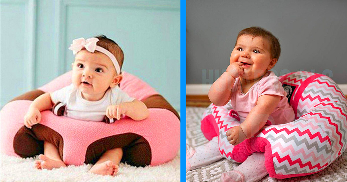 This Cute Baby Sofa Chair Helps Teach Your Infant To Sit Up and Stabilize Their Back