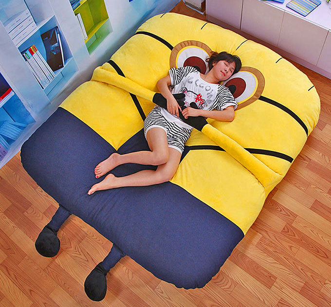 This Despicable Me Minion Sofa Bed Has Arms That Will Hug You Enlarge Image & This Despicable Me Minion Sofa Bed Has Arms That Will Hug You