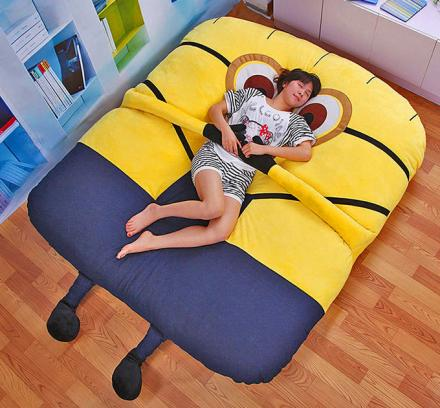 This Despicable Me Minion Sofa Bed Has Arms That Will Hug You