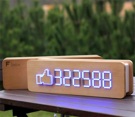 This Device Allows Businesses To Show Off Their Facebook Like Counts In Real Time