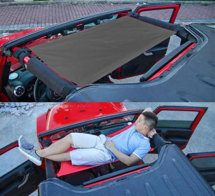 This Soft-Top Doubles as a Hammock For The Top Of Your Jeep | Jeep Hammock