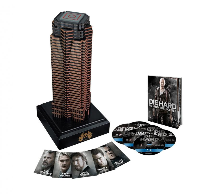 this die hard blu ray collection comes with a replica of the nakatomi plaza. Black Bedroom Furniture Sets. Home Design Ideas