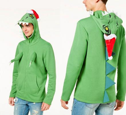 Dinosaur Hoodie Has Little T-Rex Arms That Protrude From The Chest