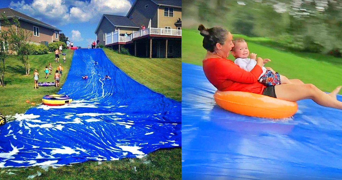 This DIY Kit On Amazon Lets You Build Your Own Giant Backyard Waterslide