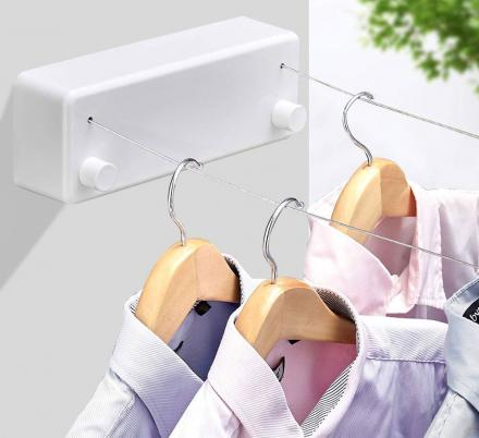 This Double Line Retractable Clothesline Is Perfect For Small Laundry Rooms Or Bathrooms
