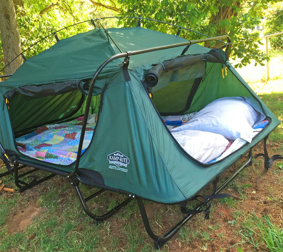 Weu0027ve featured a c&ing bunk bed cot in the past thatu0027s kind of similar to this but I feel like this one overtakes it by a long shot! & Kamp-Rite Double Tent Cot Is A Pullout Bed In Tent Form