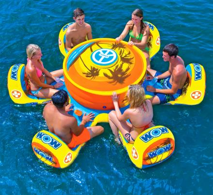 This Floating Island 6 Person Pool Float Table With Cooler Is Perfect For Epic Pool Parties