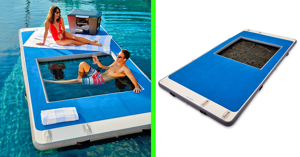 This Floating Island Lake Lounger With a Built-In Hammock Are The Things Dreams Are Made Of