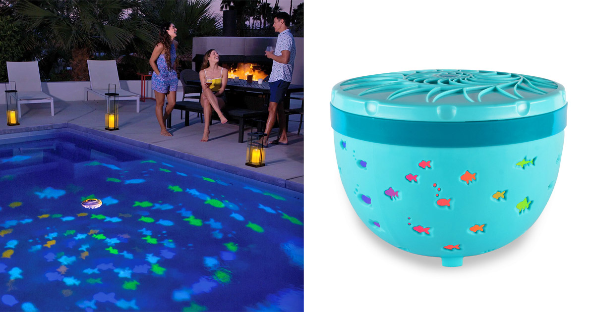 This Floating Projection Light Turns Your Pool Into an Aquarium