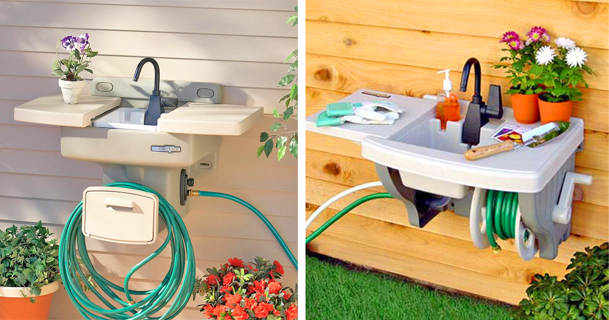 This Garden Hose Sink Gives You an Instant Outdoor Sink With No Extra Plumbing Required