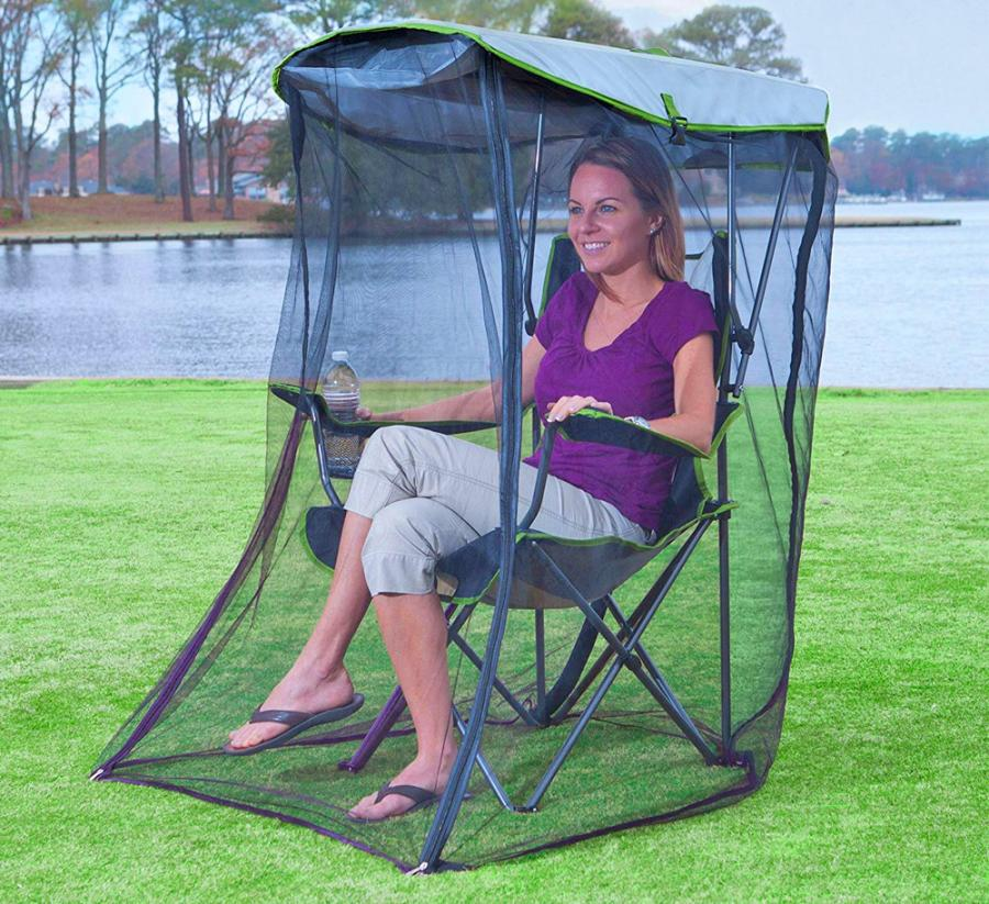 Tremendous This Genius Canopy Chair With A Screen Protects You From The Sun And Mosquitoes Customarchery Wood Chair Design Ideas Customarcherynet