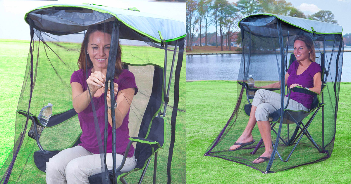 This Genius Canopy Chair With a Screen Protects You From The Sun and Mosquitoes