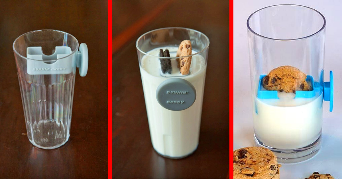 This Genius Magnetic Cookie Dunker Slides Down Your Glass For No Mess Cookie Dunking