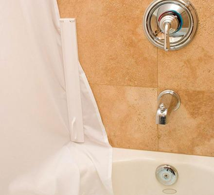 This Genius Magnetic Shower Curtain Sealer Prevents Water Messes