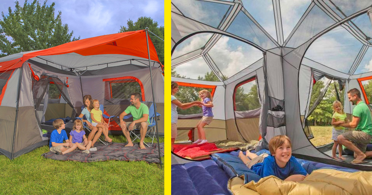 This Giant 3-Room Camping Tent Is Like an Outdoor Hotel Suite