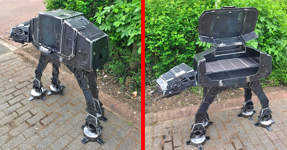 This Giant At-At BBQ Grill Is A Must For Any Star Wars Lover
