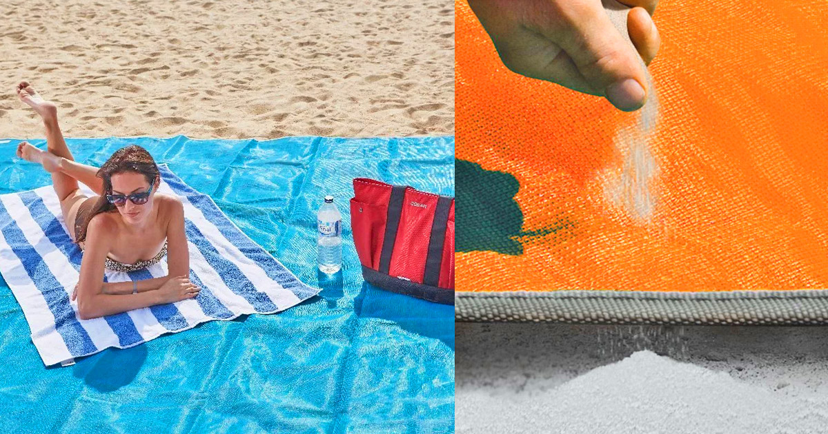 This Giant Beach Mat Absorbs Sand