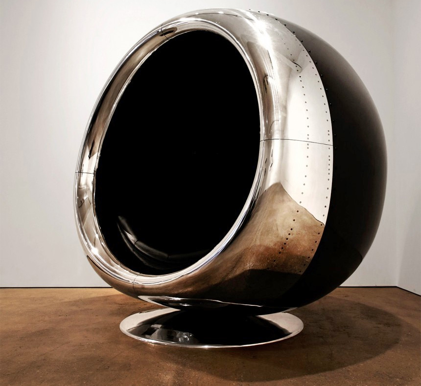 This Giant Chair Is Made From A Recycled 737 Jet Engine