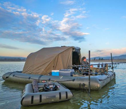 This Giant Floating Fishing Platform Lets You Camp On The Water