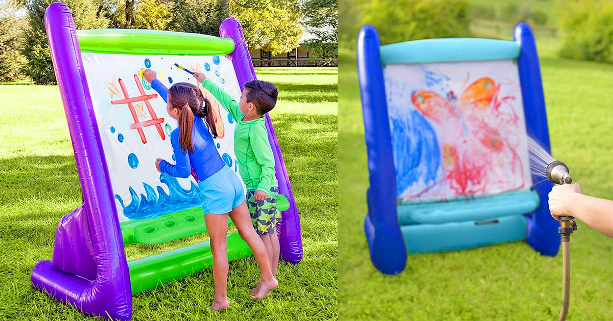 This Giant Inflatable Easel Lets Your Kids Paint Outdoors