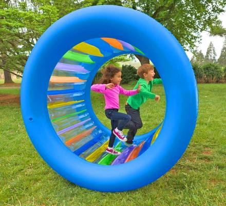 This Giant Inflatable Rolling Wheel Is The Ultimate Outdoor Activity For Your Little Ones