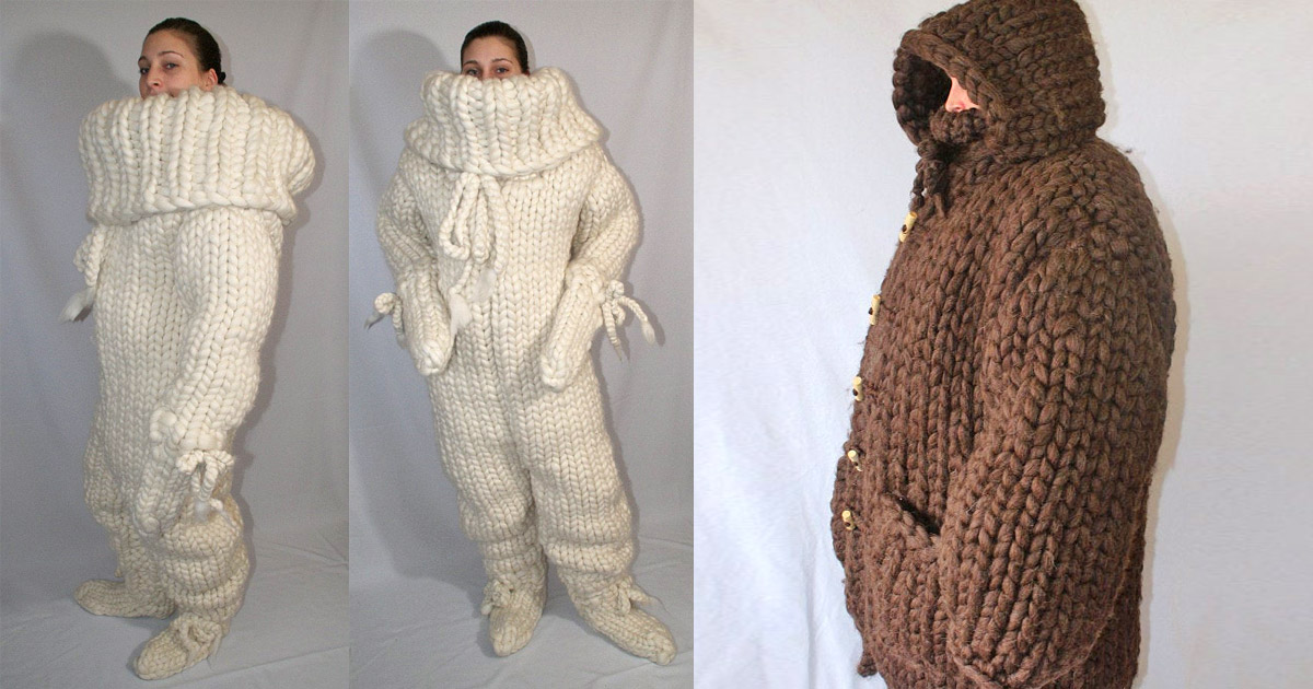 This Giant Knitted Adult Onesie Is Perfect For People Who Are Always Cold