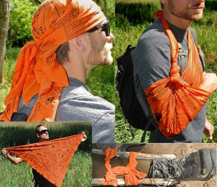 This Giant Survival Bandana Has Essential Survival Tips and Instructions Printed On It