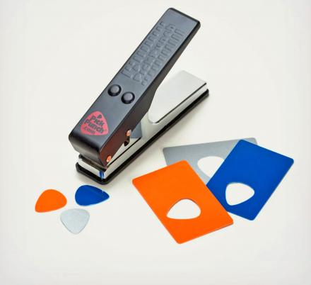 This Guitar Pick Punch Makes Guitar Picks From Old Credit Cards, IDs, and Hotel Keys