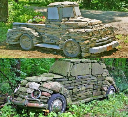 This Guy Makes Vintage Cars and Trucks Out Of Rocks And They Look Incredible