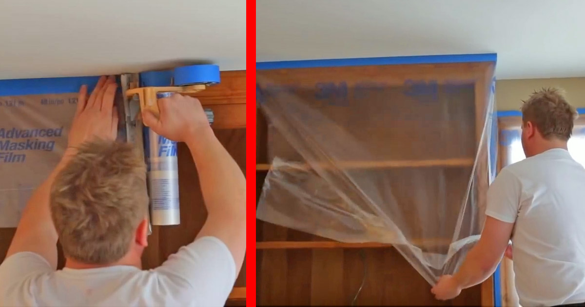 This Hand-Masker Dispenser Lets You Quick Tape and Plastic Wrap Your Furniture In Seconds