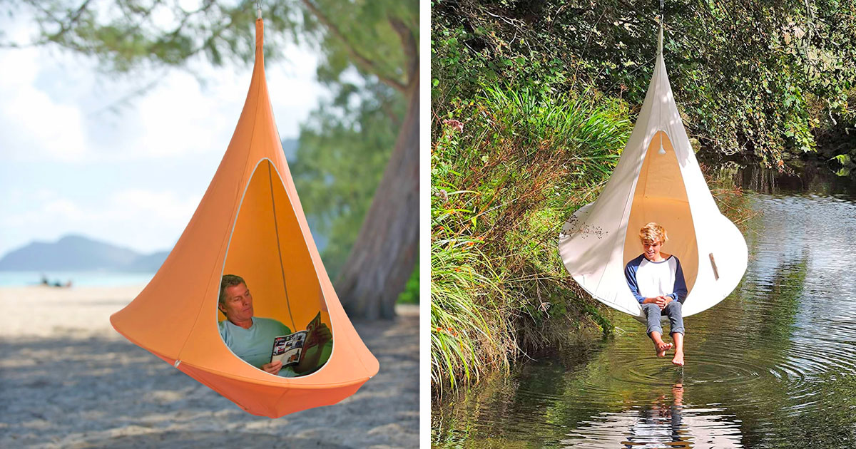This Hanging Cocoon Private Hammock Makes The Perfect Reading Or Nap Spot