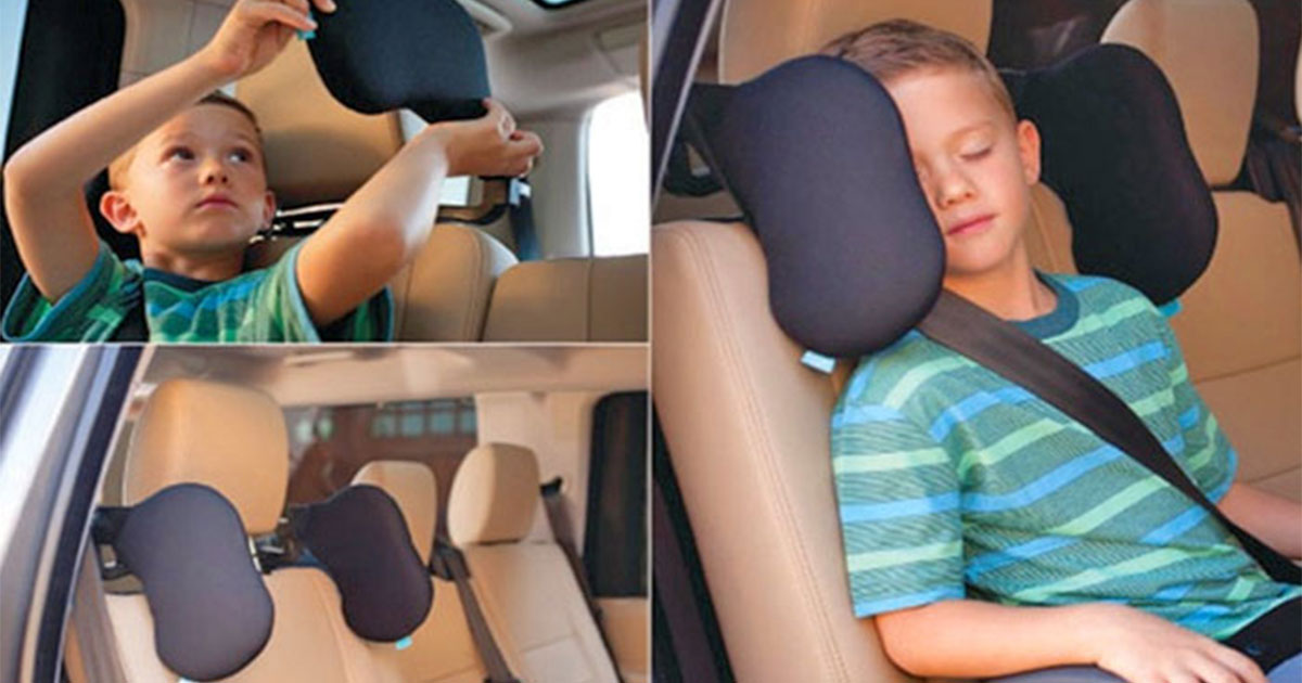 This Headrest Lets You Nap Comfortably In The Car