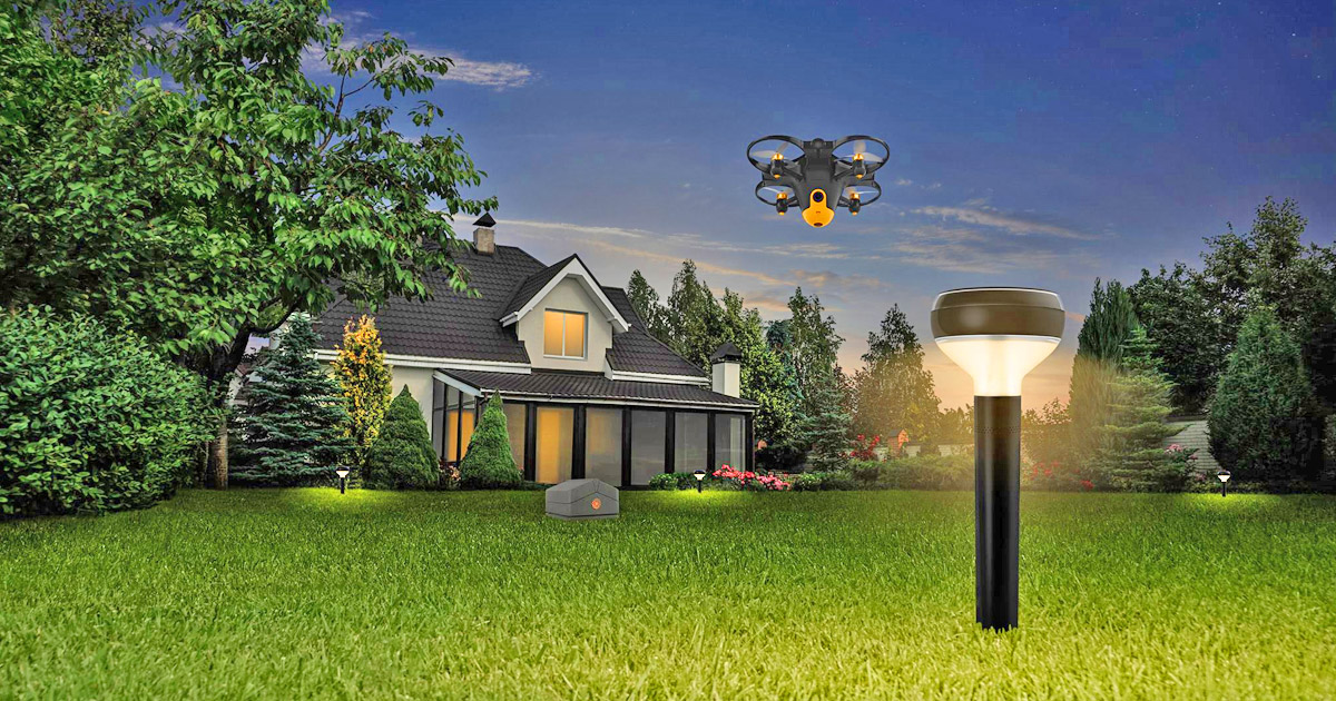 This Home Security Surveillance Drone Automatically Deploys When It Senses Intruders