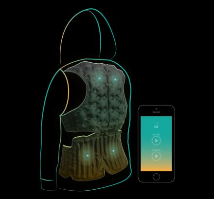 This Hoodie Massages Your Shoulders and Back While On The Go