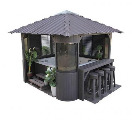 This Hot Tub Gazebo Turns Your Spa Into a Swim-Up Bar