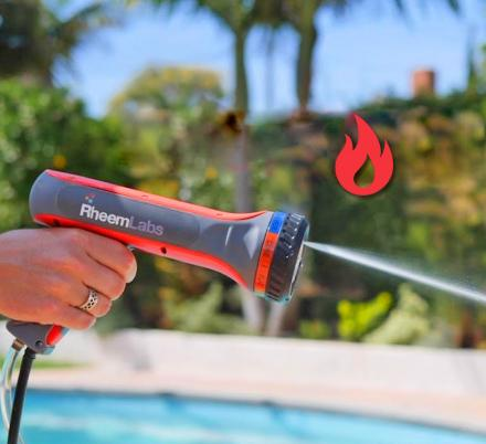 This HotWave Hose Sprayer Heats The Water Before It Comes Out For Endless Hot Water