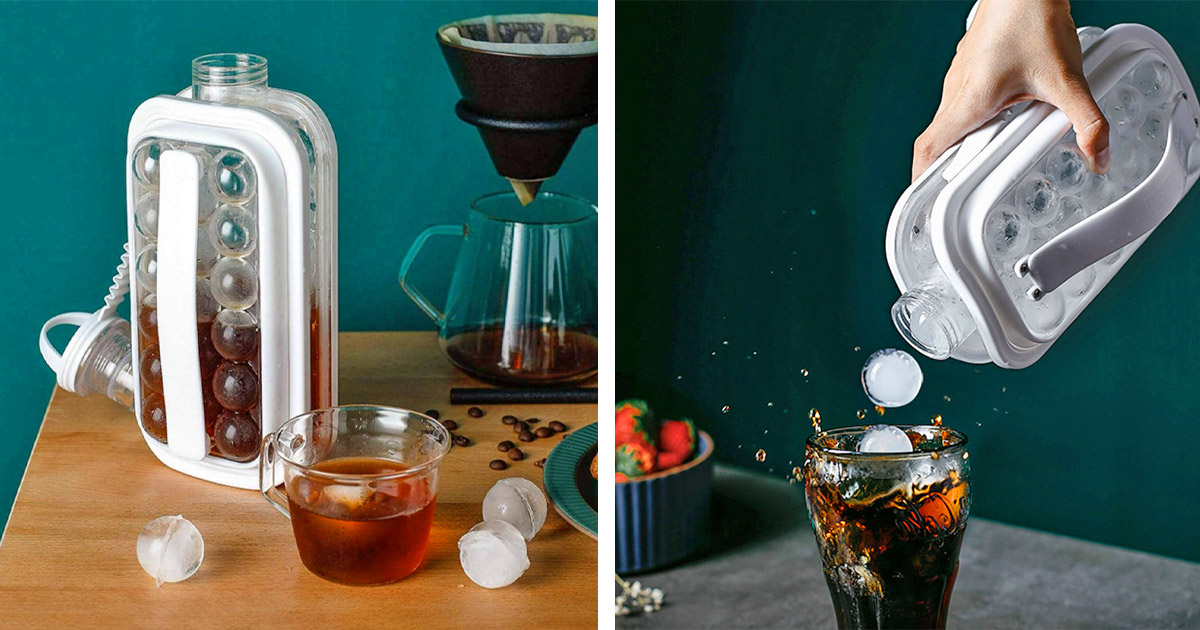 This Ice Kettle Ice Maker Tray Doubles as a Portable Water Bottle