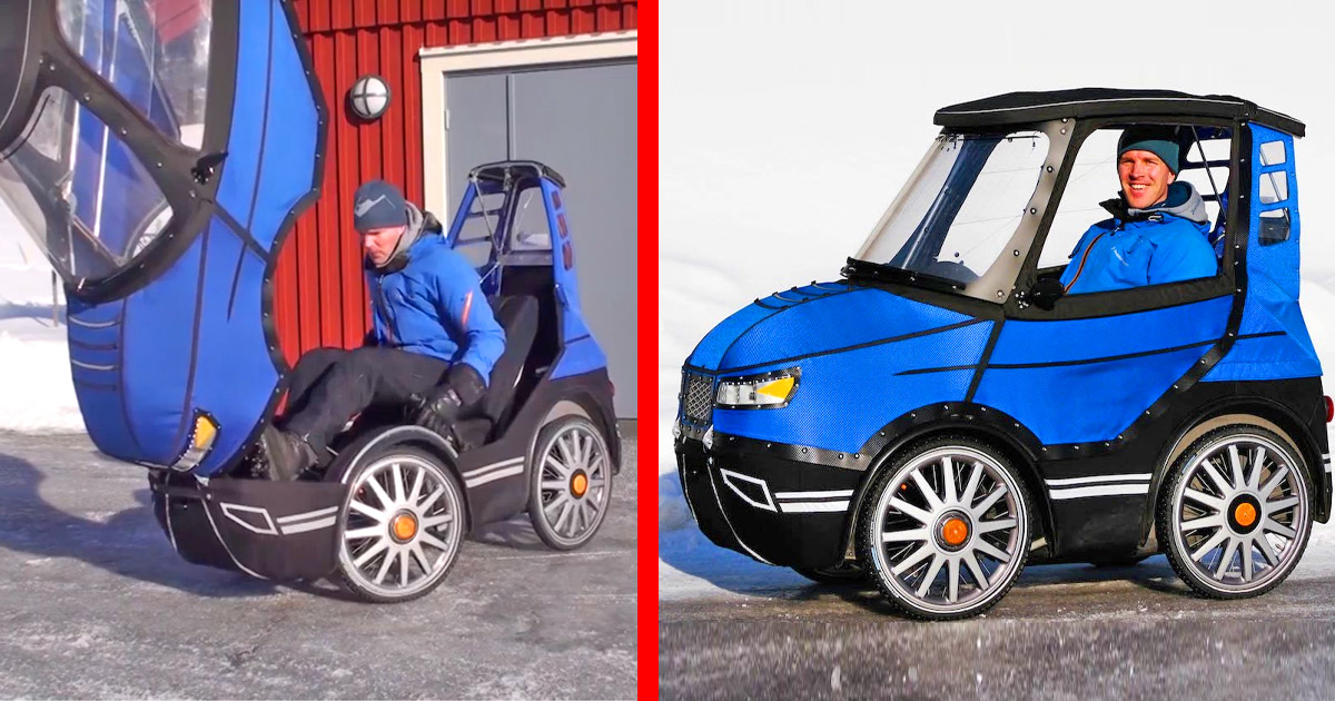 This Incredible Bicycle Car Is an E-Bike That Keeps You Warm During Winter Transit