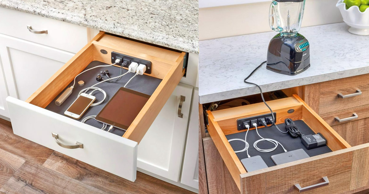 This Incredible Charging Drawer Gives Easy Power Access To Your Gadgets and Appliances