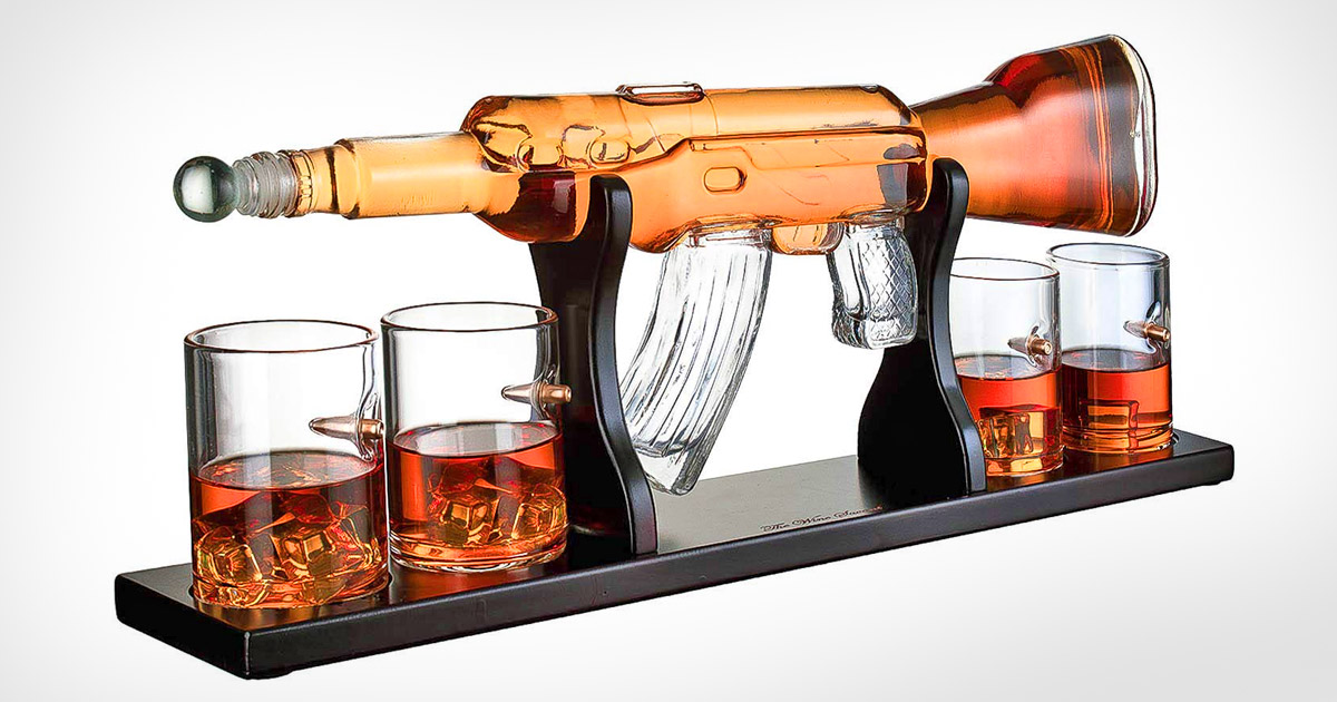This Incredible Glass Ak-47 Rifle Decanter Is a Must-Have For Gun Nuts