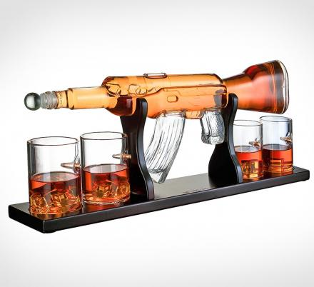This Incredible Glass AR-15 Rifle Decanter Is a Must-Have For Gun Nuts