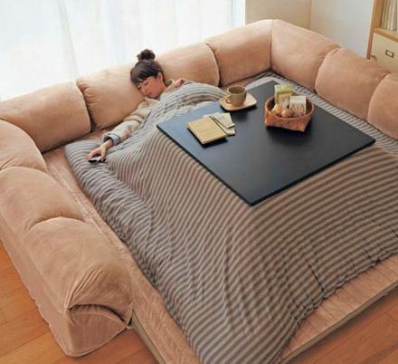 This Heated Kotatsu Table Lets You Nap, Work, Or Eat While Keeping Super Cozy