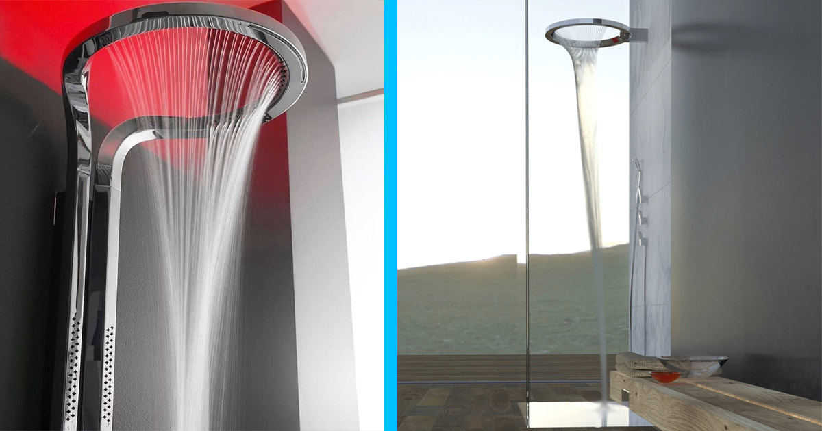 This Incredible Modern Shower Head Design Can Be Used In Both Halo or Waterfall Mode