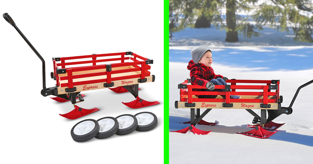 This Incredible Wagon Turns Into a Snow Sleigh In The Winter