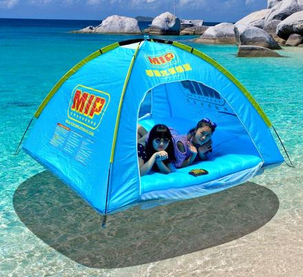 This Inflatable Floating Tent Lets You Relax Under Some Shade While On The Water