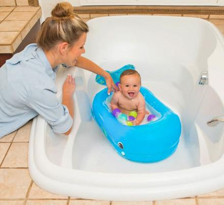 This Inflatable Whale Baby Bathtub Saves On Water And Turns Into A Ball Pit